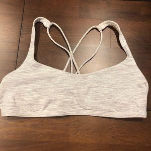 Free To Be Bra - Lululemon - Size 12 White & Grey